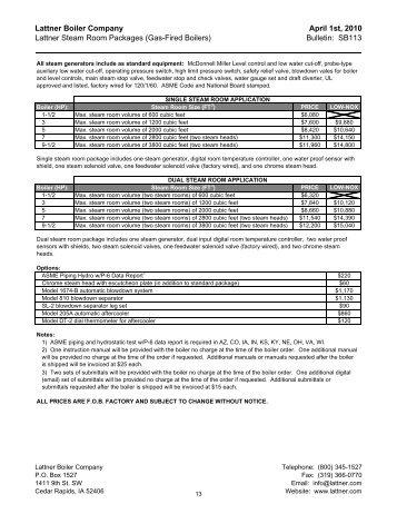 Instruction Manual ? WLF Steam Boilers - Lattner Boiler Company