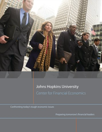 CFE Brochure - Center for Financial Economics - Johns Hopkins ...
