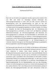 Folgen der WEG-Reform ab 01.07.2007 für den Verwalter ...