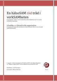En hälsoSAM röd tråd i verkSAMheten.pdf - Malmö högskola