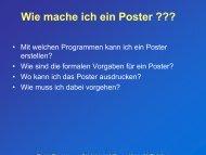 Wie mache ich ein Poster ??? - Universität Paderborn