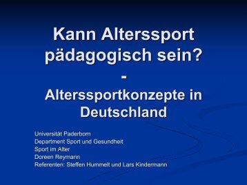 Kann Alterssport pädagogisch sein? - - Department Sport ...