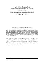 Credit Suisse International - Carnegie