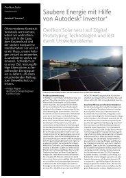 Saubere Energie mit Hilfe von Autodesk® Inventor ®