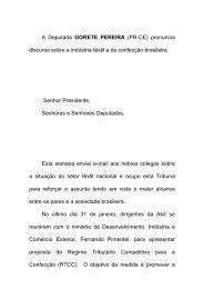 A Deputada GORETE PEREIRA - Associação Brasileira da Indústria ...