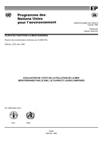 PLAN D'ACTION POUR LA MEDITERRANEE EVALUATION DE L ...