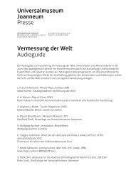 Universalmuseum Joanneum Presse Vermessung der Welt ...