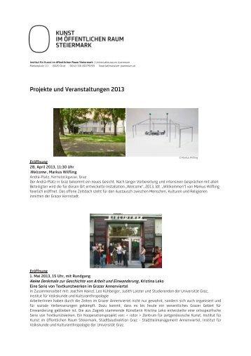 Jahresprogramm_KIÖR_2013 - Universalmuseum Joanneum
