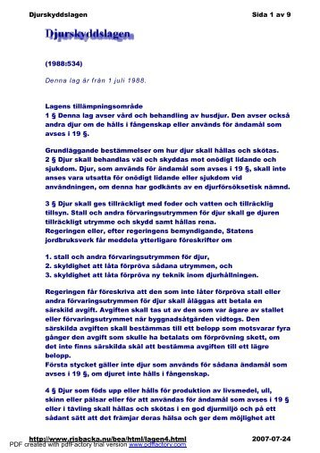 Denna lag är från 1 juli 1988. Lagens tillämpningsområde 1 ... - iFokus