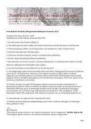 NWS Årsmöte 2012