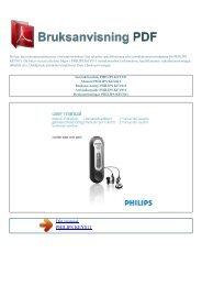 Instruktionsbok PHILIPS KEY011 - BRUKSANVISNING PDF