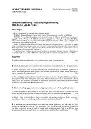 Tentamensskrivning - Realtidsprogrammering 2005-03-30, kl 8.00 ...
