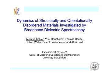 Dynamics of Structurally and Orientationally ... - Glass and Time