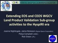 Extending EOS and CEOS WGCV Land Product Validation ... - NASA