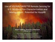Use of VIS/NIR/SWIR/TIR Remote Sensing for U.S. Wildland ... - NASA