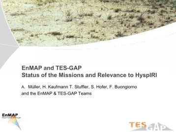 19 TES-GAP - HyspIRI Mission Study Website - NASA