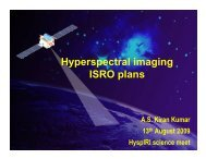 Hyperspectral imaging ISRO plans - HyspIRI Mission Study Website