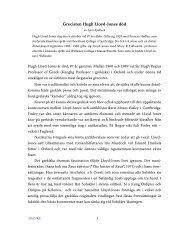 Grecisten Hugh Lloyd-Jones död - Aigis