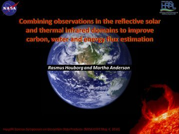 Combining observations in the reflective solar and thermal ... - NASA