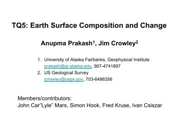 TQ5: Earth Surface Composition and Change