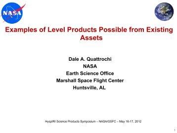 CQ6. HyspIRI Science Questions - NASA