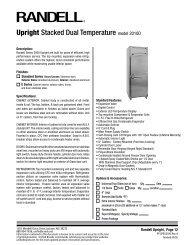 Upright Stacked Dual Temperature model 2010D - CKitchen.com