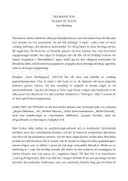 FILOSOFINS TON (Kolumn ÅU 26.4.01) Lars Hertzberg Filosofernas ...