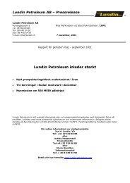 Rapport för maj – sept 2001 - PDF - Lundin Petroleum