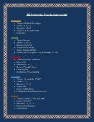 3D Preschool Yearly Curriculum