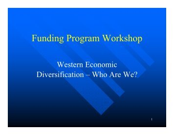 WD Funding Programs - Ag-West Bio Inc.