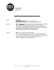 FITS Socks 2012/2013 Press Kit - GoExpo