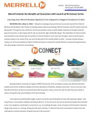 Merrell MConnect SS13 - GoExpo