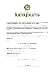 Lucky Bums Launches New Water Line - GoExpo