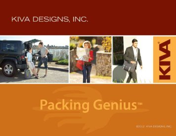 Kiva Designs, Inc, Summer 2012 Press Kit - GoExpo