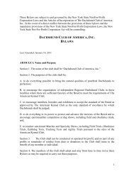 Printable Bylaws .pdf - The Dachshund Club of America, Inc.