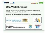 Das Verkehrsquiz - Akademie für Lehrerfortbildung und ...
