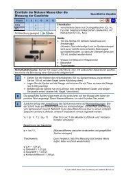 Ermitteln der Molaren Masse über die Messung der Gasdichte B V E