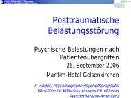 Posttraumatische Belastungsströrungen (PTBS)