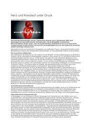Herz und Kreislauf unter Druck - Bewegungsforum