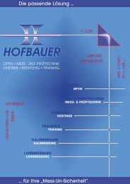 MESS- & PRÜFTECHNIK - Hofbauer Optik