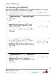 Metaprogramme: Selbstreflexion u. Fremdeinschätzung