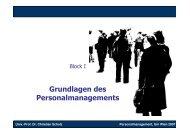 Grundlagen des Personalmanagements - Lehrstuhl von Prof. Dr ...