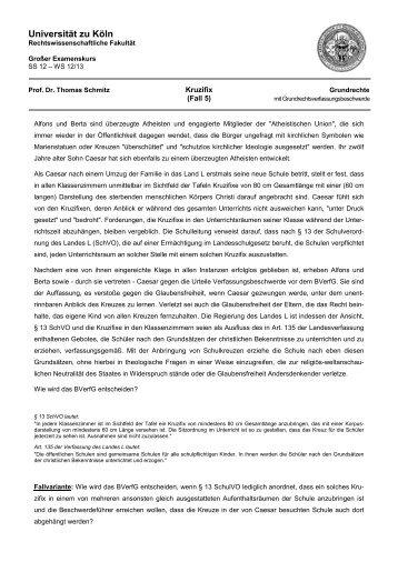 Fall 5: Kruzifix - Universität zu Köln