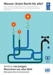 Wasser: (k)ein Recht für alle? - Stiftung Bildung und Entwicklung