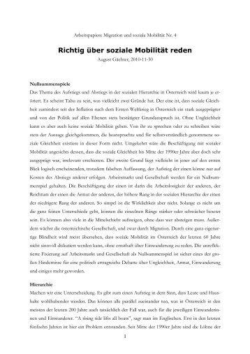 04 Richtig über soziale Mobilität reden - ZSI