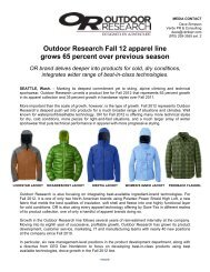 Outdoor Research F12 Media Kit