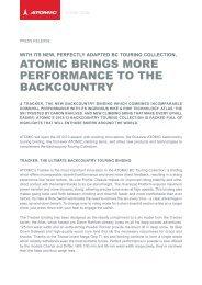 Atomic Backcounty Touring Set Up