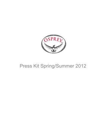 Osprey Packs SS12 Press Kit