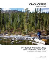 Craghoppers - Introducing New Lines for Fall/Holiday 2012