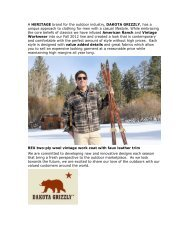 Dakoat Grizzly Fall 2012 brand story